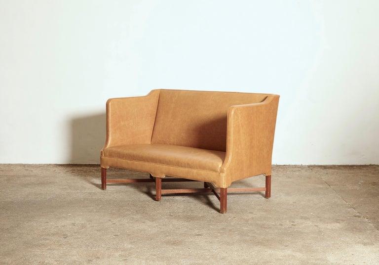 Kaare Klint Model 4118 Box Sofa, Rud Rasmussen, Denmark, 1950s In Good Condition For Sale In London, GB