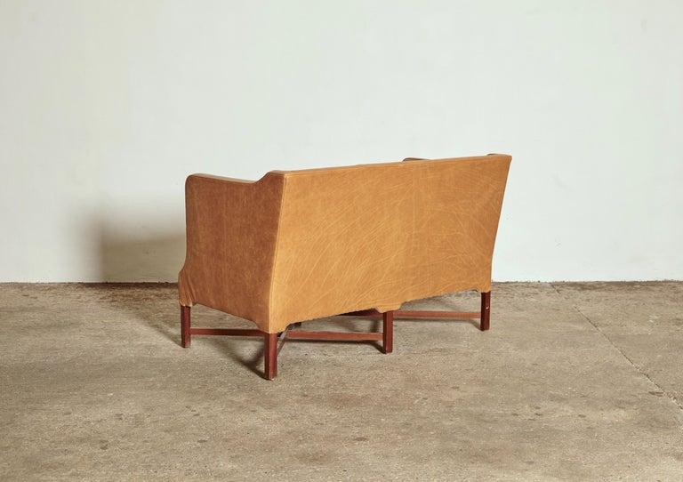 Mahogany Kaare Klint Model 4118 Box Sofa, Rud Rasmussen, Denmark, 1950s For Sale