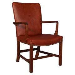 """Kaare Klint """"Nørrevold"""" Armchair in mahogany and leather"""