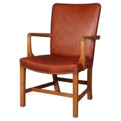 "Kaare Klint ""Nørrevold"" Armchair in Oak and Leather"