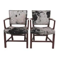 Kaare Klint Pair of Armchairs for Rud Rasmussen