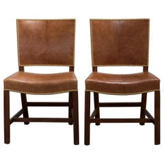 Kaare Klint Pair of Red Chairs for Rud. Rasmussen