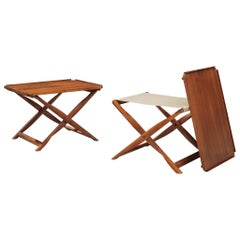 Kaare Klint Propeller Stool and Tray Table