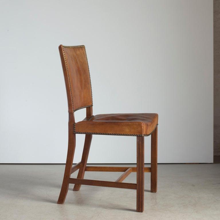 Scandinavian Modern Kaare Klint Red Chair for Rud. Rasmussen For Sale