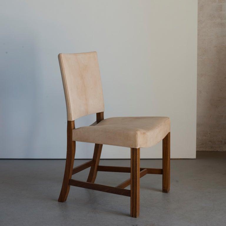 Scandinavian Modern Kaare Klint Red Chair for Rud, Rasmussen For Sale