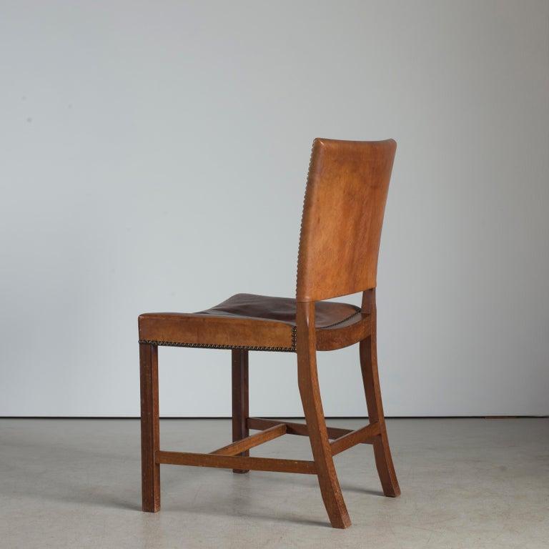 Danish Kaare Klint Red Chair for Rud. Rasmussen For Sale
