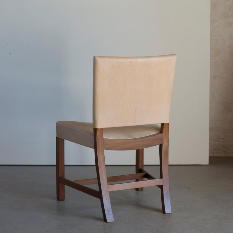 Danish Kaare Klint Red Chair for Rud, Rasmussen For Sale