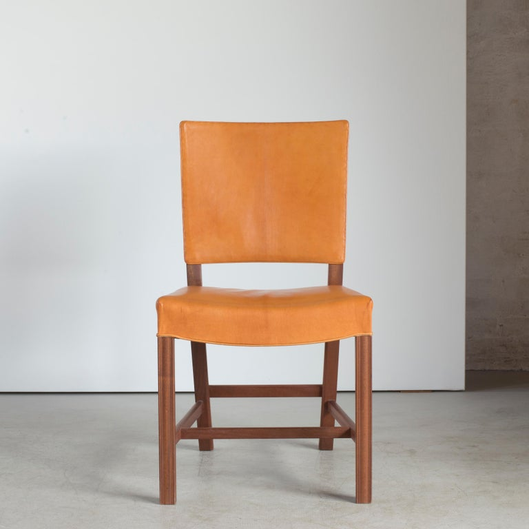 Oiled Kaare Klint Red Chair for Rud. Rasmussen For Sale