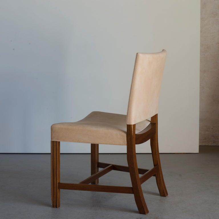 Kaare Klint Red Chair for Rud, Rasmussen In Good Condition For Sale In Copenhagen, DK