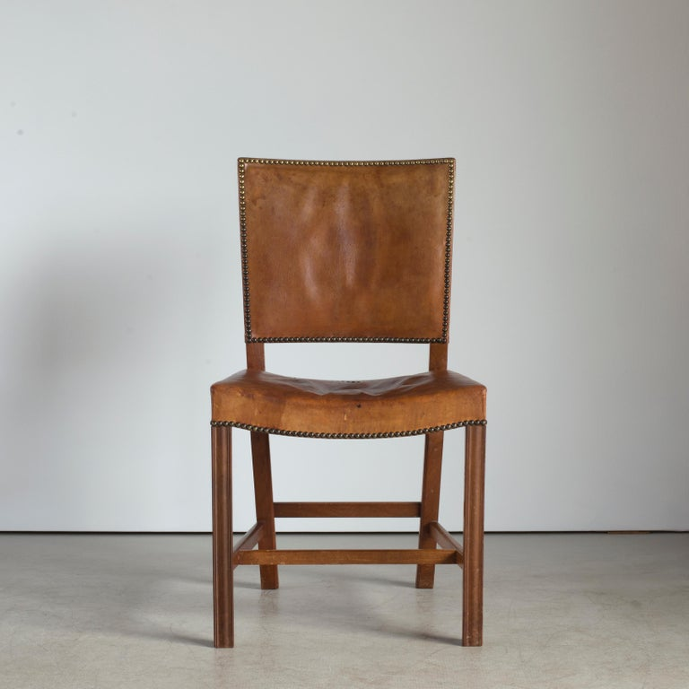 Mid-20th Century Kaare Klint Red Chair for Rud. Rasmussen For Sale