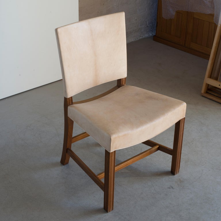 20th Century Kaare Klint Red Chair for Rud, Rasmussen For Sale