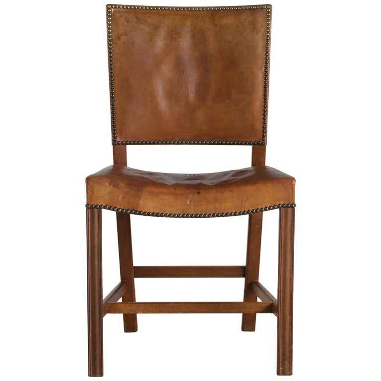 Kaare Klint Red Chair for Rud. Rasmussen For Sale