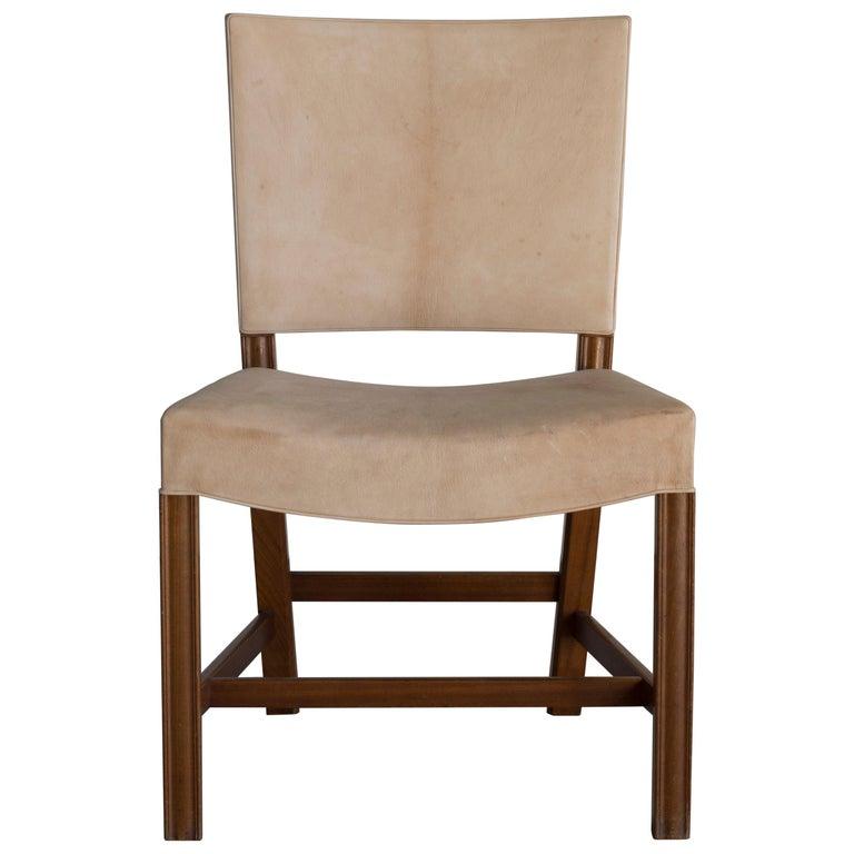 Kaare Klint Red Chair for Rud, Rasmussen For Sale