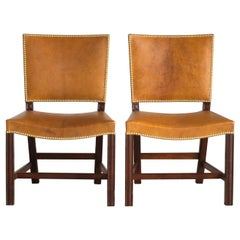 Kaare Klint Red Chairs of Cuban Mahogany and Niger Leather