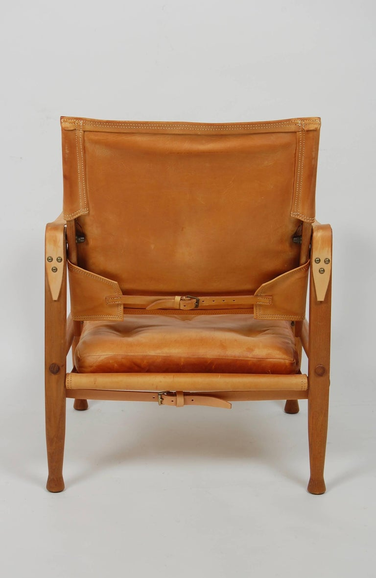 Kaare Klint Safari Chair Danish Design In Good Condition For Sale In San Francisco, CA