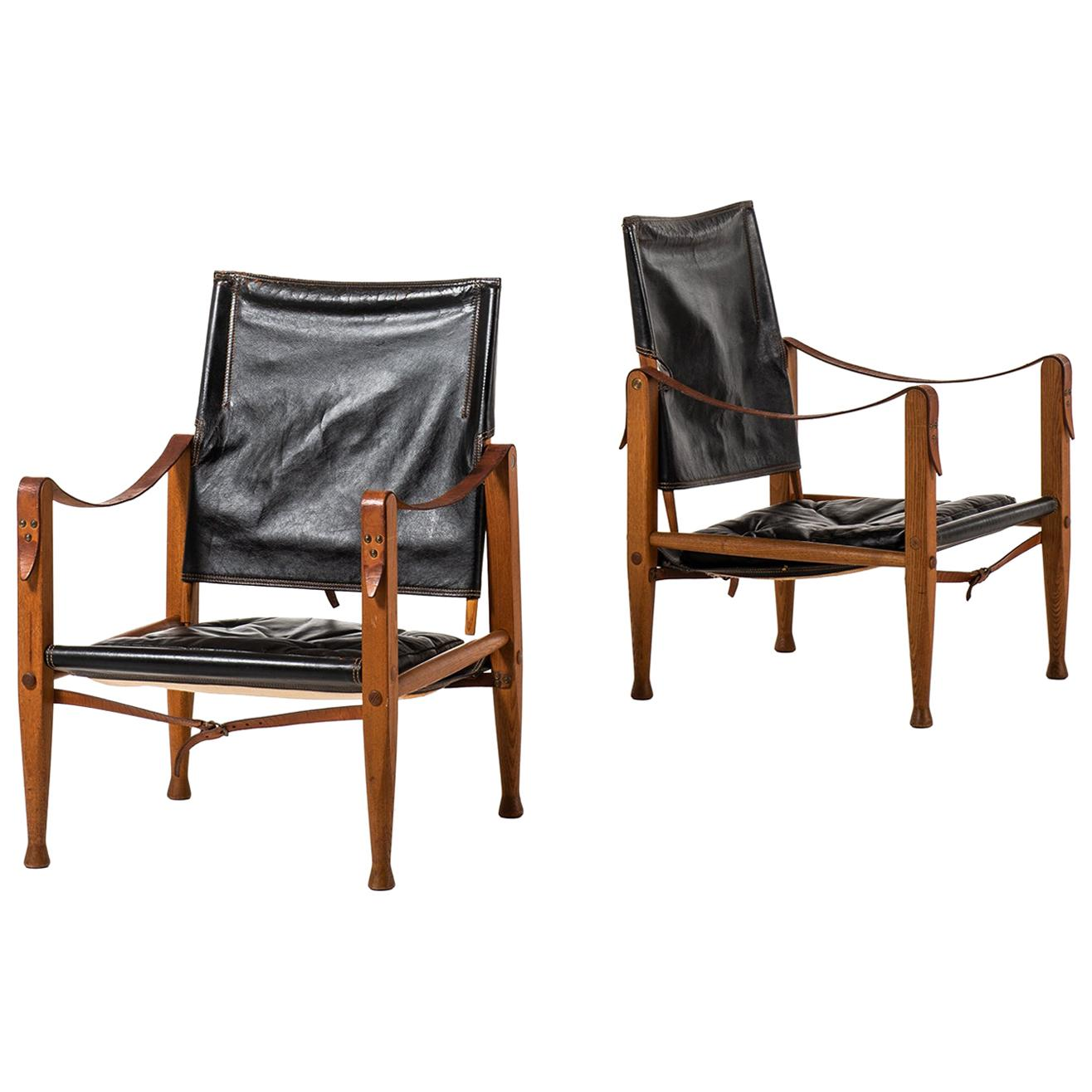 Kaare Klint Safari Chairs Produced by Rud Rasmussen in Denmark