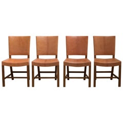 Kaare Klint Set of Four Red Chairs for Rud. Rasmussen