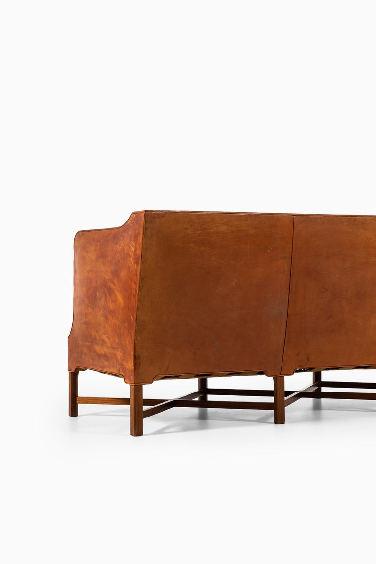 Kaare Klint Sofa Model No 4118 Produced by Rud. Rasmussen in Denmark For Sale 4