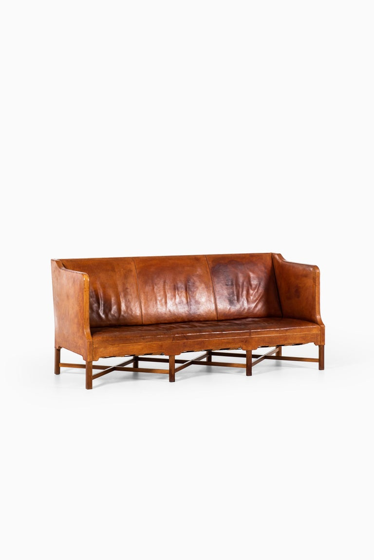 Kaare Klint Sofa Model No 4118 Produced by Rud. Rasmussen in Denmark For Sale 6