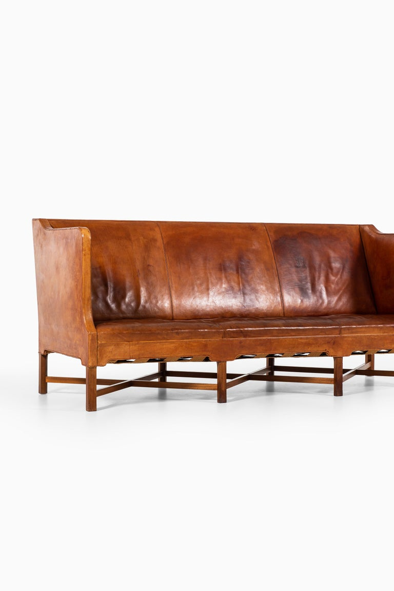 Kaare Klint Sofa Model No 4118 Produced by Rud. Rasmussen in Denmark For Sale 7