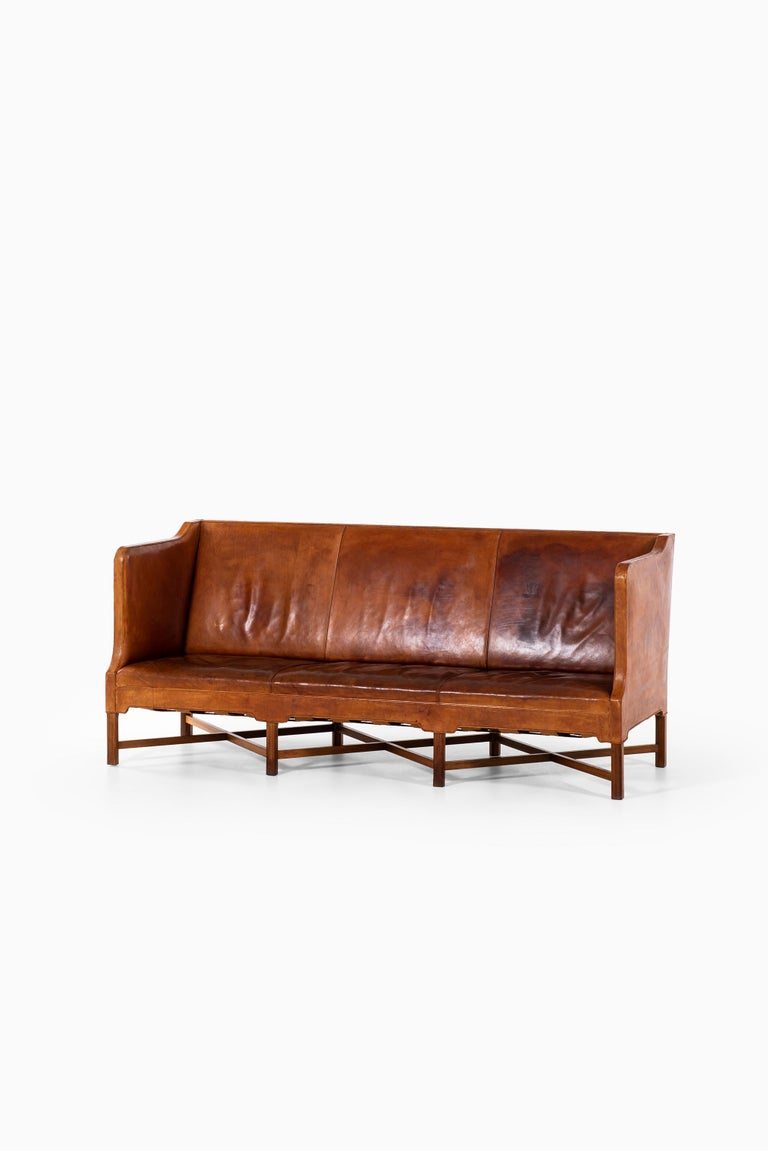 Kaare Klint Sofa Model No 4118 Produced by Rud. Rasmussen in Denmark For Sale 9