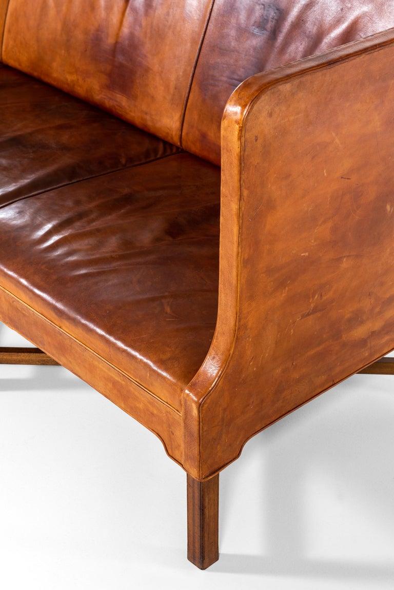 Danish Kaare Klint Sofa Model No 4118 Produced by Rud. Rasmussen in Denmark For Sale