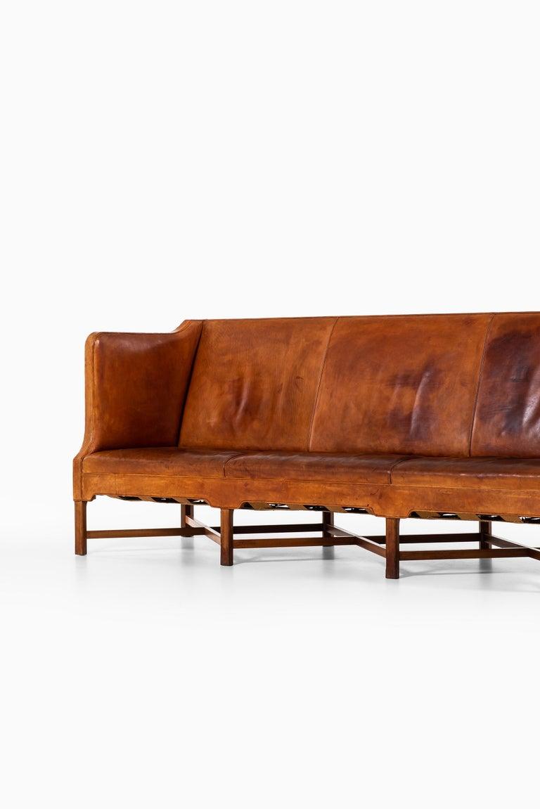 Kaare Klint Sofa Model No 4118 Produced by Rud. Rasmussen in Denmark For Sale 1