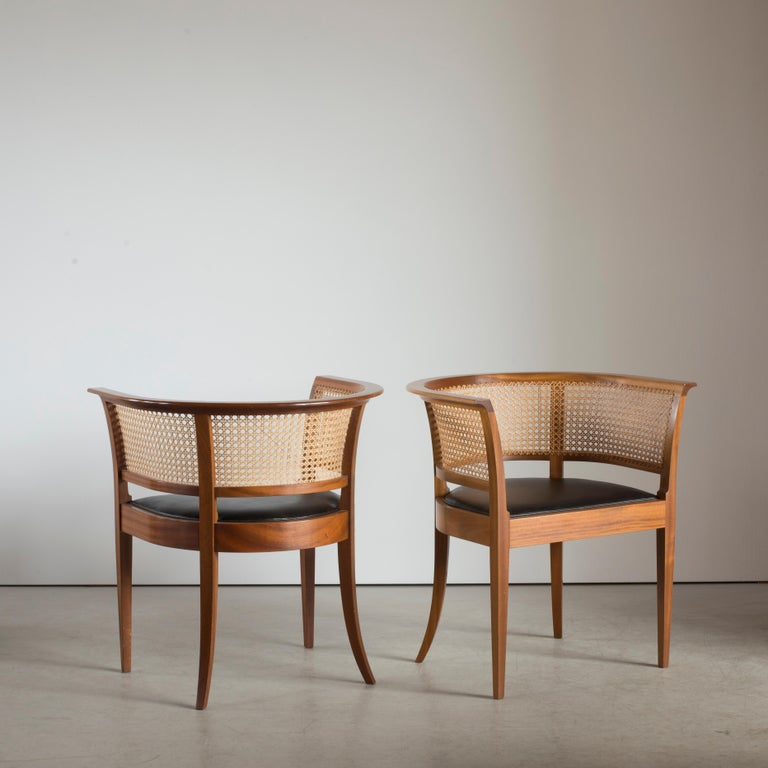 Scandinavian Modern Kaare Klint The Faaborg Chair of Mahogany For Sale