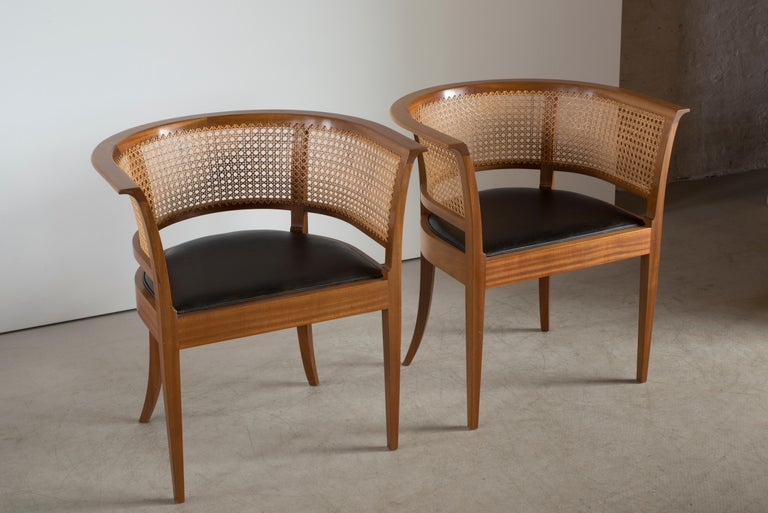 Lacquered Kaare Klint The Faaborg Chair of Mahogany For Sale