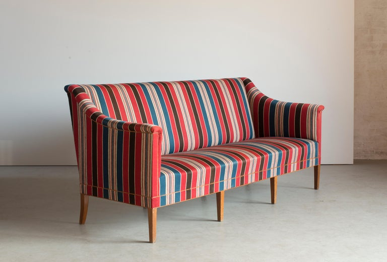 Scandinavian Modern Kaare Klint Three-Seat Sofa for Rud. Rasmussen For Sale