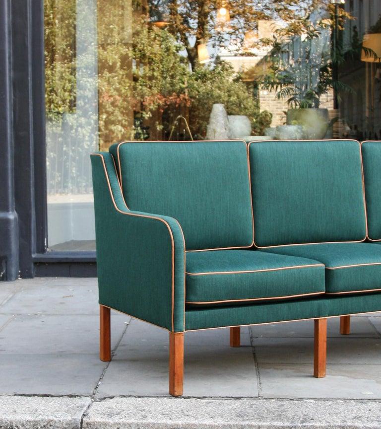 Leather Kaare Klint Three-Seat Sofa For Sale
