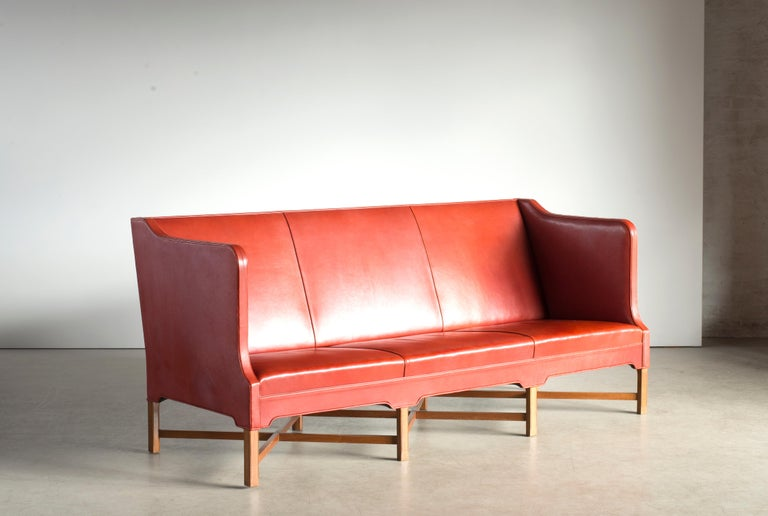 Lacquered Kaare Klint Three-Seat Sofa for Rud. Rasmussen For Sale