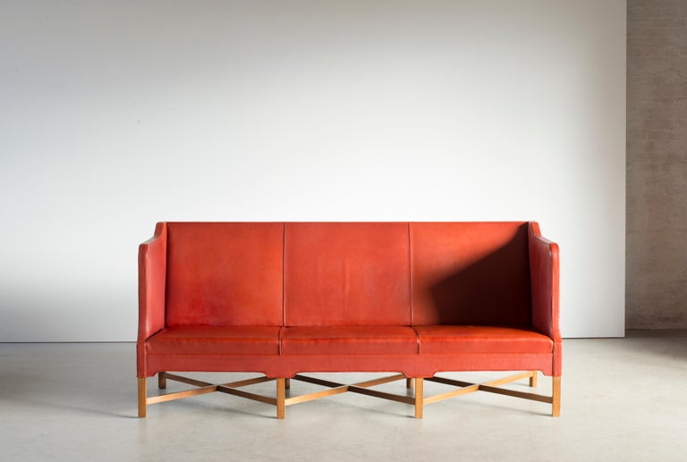 20th Century Kaare Klint Three-Seat Sofa for Rud. Rasmussen For Sale