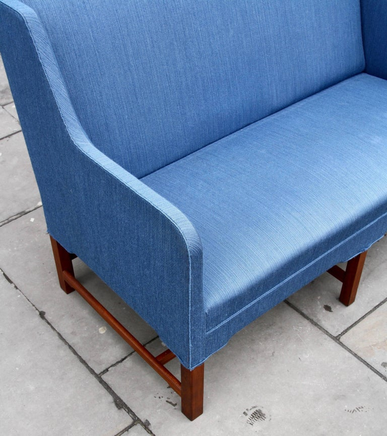 20th Century Kaare Klint Two-Seat Model 4118 Settee Made by Rud Rasmussen, circa 1940 For Sale