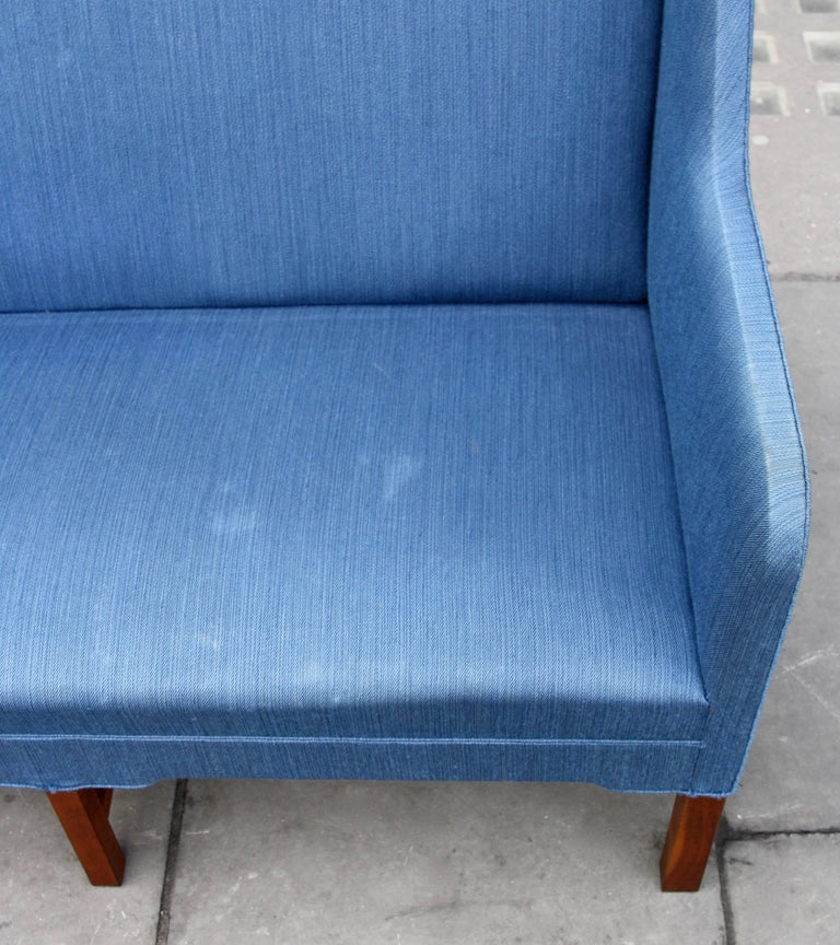 Upholstery Kaare Klint Two-Seat Model 4118 Settee Made by Rud Rasmussen, circa 1940 For Sale