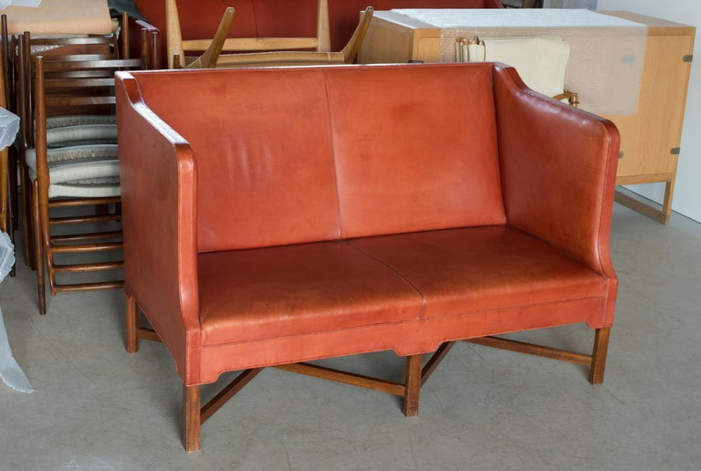 Lacquered Kaare Klint Two-Seat Sofa for Rud. Rasmussen For Sale