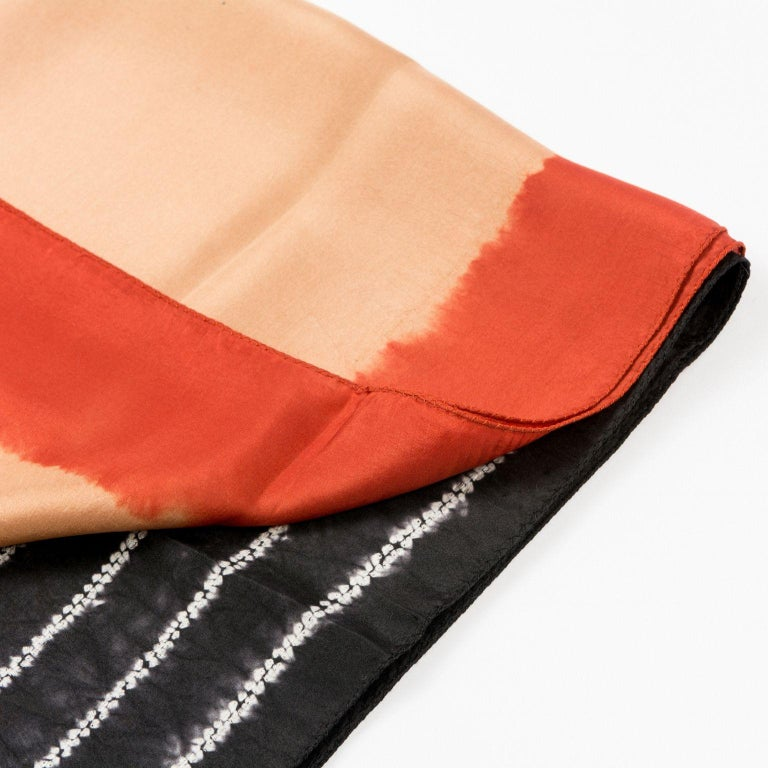 Custom design by Studio variously, Kaavi is a classic silk scarf / wrap made by master shibori artisans in India.  A sustainable design brand based out of Michigan, Studio Variously exclusively collaborates with artisan communities to restore &