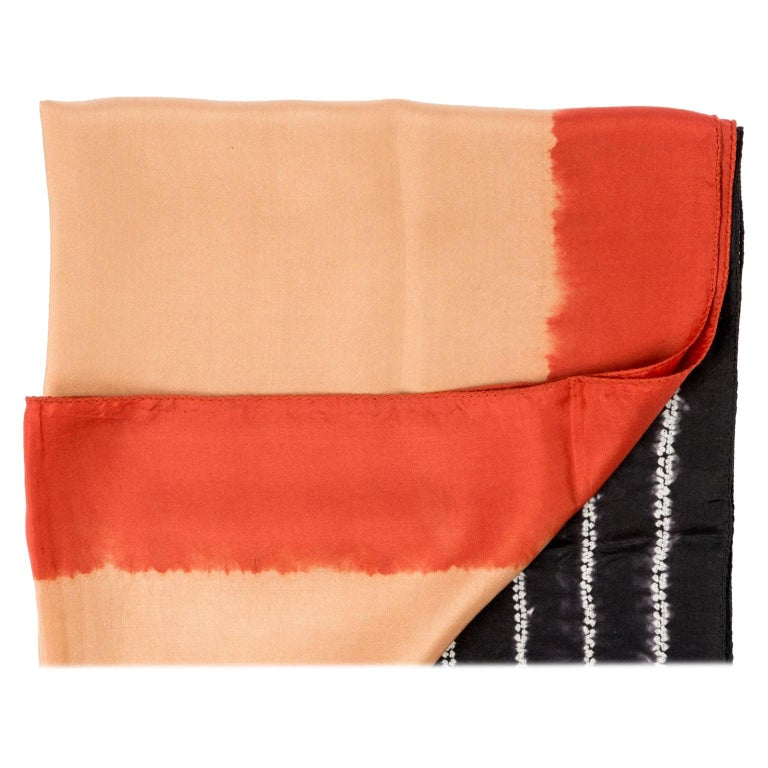 Kaavi Silk Shibori  Scarf / Wrap  For Sale