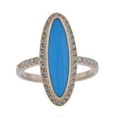 Kabana Gold Turquoise Diamond Ring