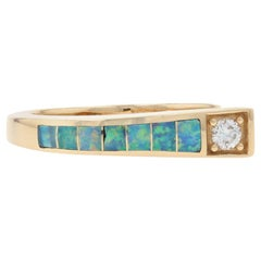 Kabana Opal and Diamond Ring Yellow Gold, 14 Karat