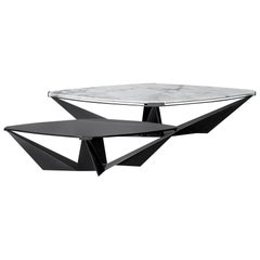 Kactis Marble and Glass Coffee Table