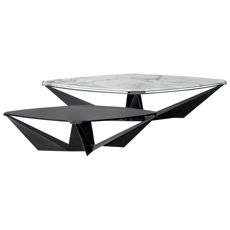 Kactis Marble And Glass Coffee Table For Sale At 1stdibs