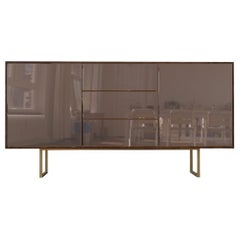 Kafe Sideboard in Bronze Mirror and Stainless Steel