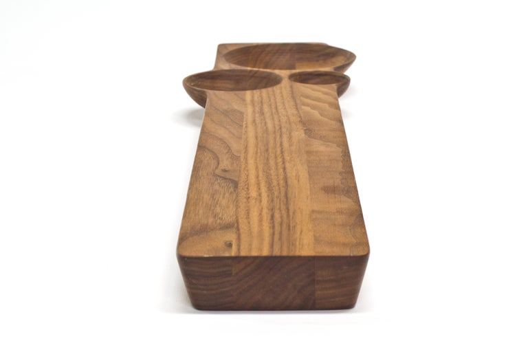 Hand-Crafted Kafi 3 Cheese Board in Oiled Walnut by Martin Leugers & Tricia Wright for Wooda For Sale