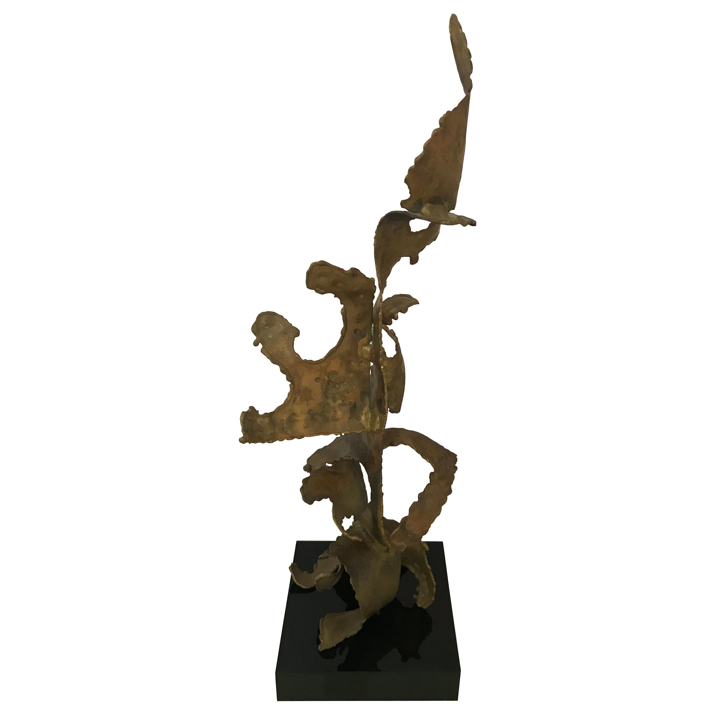Kafka Brutalist Metal Sculpture, 1963