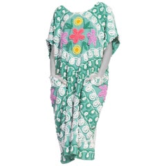 kaftan dress made from 1940/50's cotton chenile