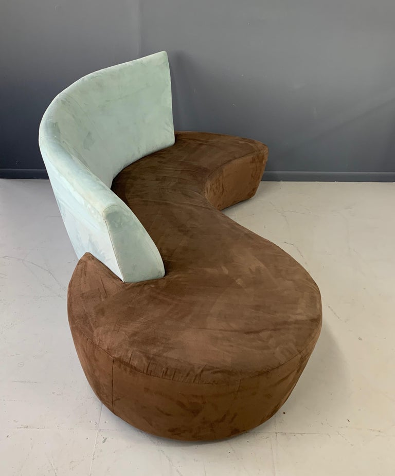 Postmodern Curved sofa In Fair Condition For Sale In Philadelphia, PA