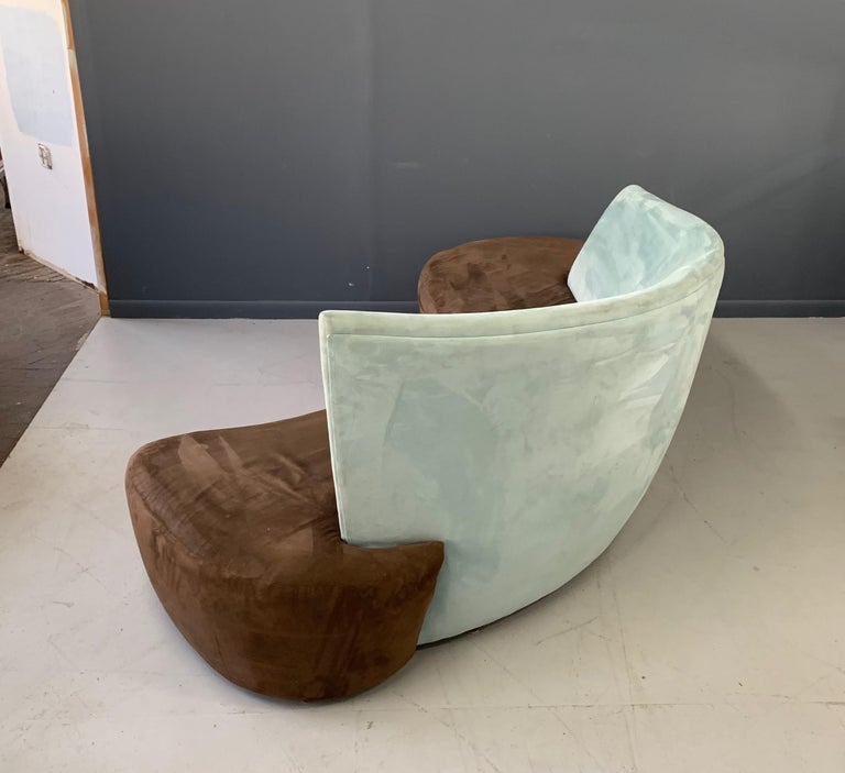20th Century Postmodern Curved sofa For Sale