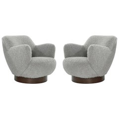 Kagan-Dreyfuss Swivel Chairs, Model 100A, by Vladimir Kagan, circa 1960s