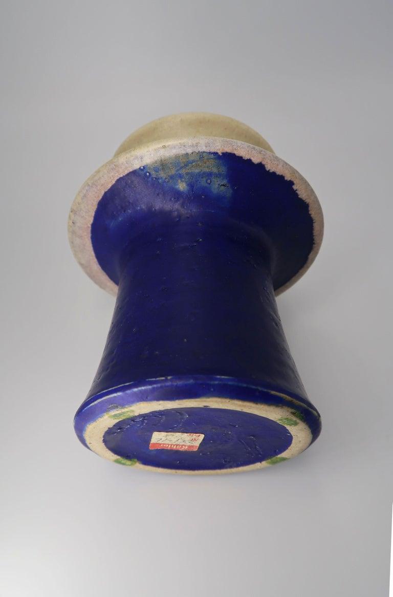 Kähler Danish Modern Blue, Lilac, Beige Tiered Handmade Ceramic Vase, 1960s For Sale 2